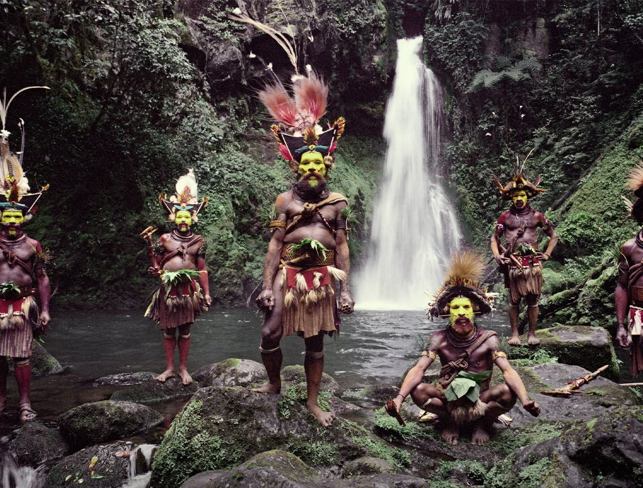 Huli Wigmen, Ambua Falls, a Tari Valley, Papua New Guinea, 2010