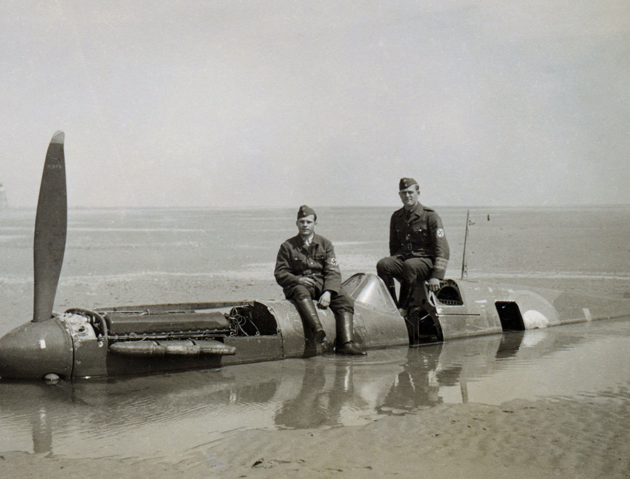 a 1 P9374 Calais Beach shortly after 24 May 1940 Image credit Peter R A