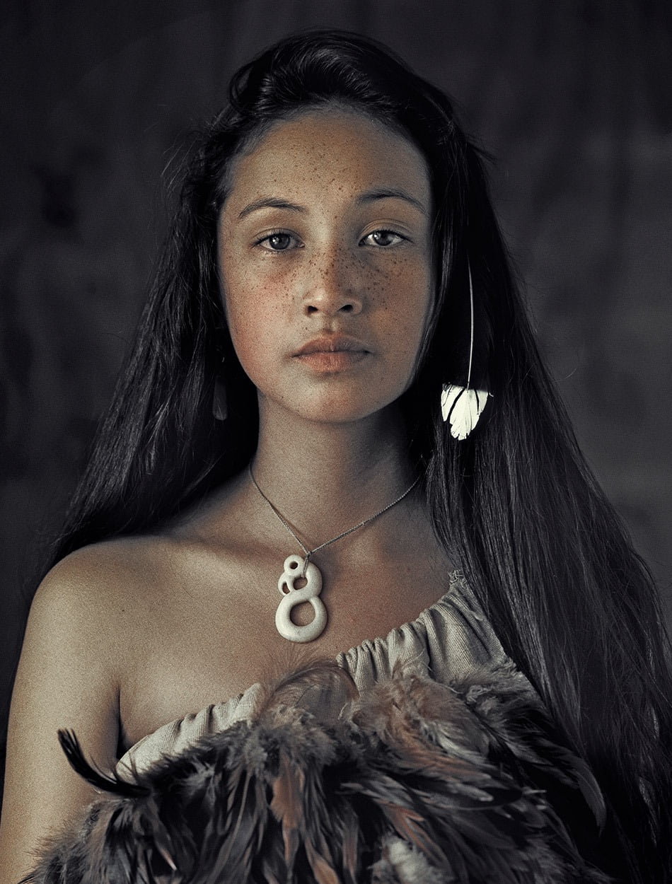 a Maori, Rauwhiri Winitana Paki, Taupo Village, North Island, New Zealand 2011